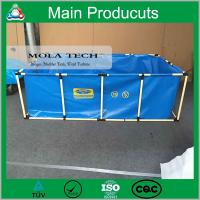 Buy cheap China Supplier PVC Steel Structure Folding Fish Tank with Fish Farm product
