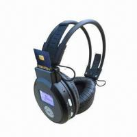 Buy cheap New Foldable Wireless Headphones with SD Card Reader/Built-in Rechargeable Lithium Battery product
