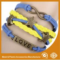 Buy cheap Endless Engraved Personalized Leather Bracelets With Magnetic Closure product