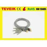 Buy cheap Gold Plated Copper DIN1.5 Socket 1m Ecg Wire Accessories Gray / Red / Blue from wholesalers