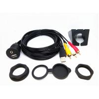 Copper Cable Conductor usb and 3RCA Car dashboard Usb Data Cable Custom Length With Mounting Panel