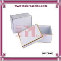 Buy cheap Decorated book shaped rigid paper keepsake box with hot stamping frame wholesale product