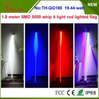Buy cheap 19.44w 7 inch Whip it light rod lighted flag for ATV, Camp Locator outside product
