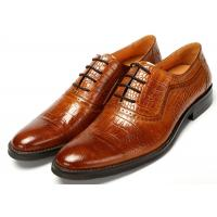 Buy cheap Contemporary Crocodile pattern Classic Dress Shoes Lace Up Oxfords Absorbent Sweat product