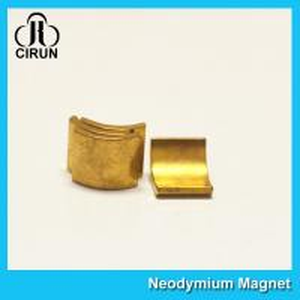 Buy cheap Arc Shaped Neodymium Motor Magnets , N38H Grade Wind Generator NdFeb Magnet product