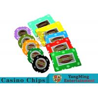 UV Anti - Fake RFID Casino Chips Customized Multi - Color With Number Stickers