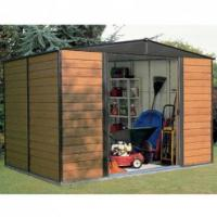 6x4ft metal sheds with cream and green color