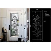 Buy cheap Energy Saving Decorative Art Glass Window Panels , Embroidered Inlay Glass Sheets product