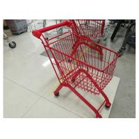 Buy cheap Kids Model Supermarket Shopping Cart / Red Color Shopping Trolley For Kids from Wholesalers