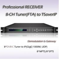 Buy cheap DVB-C IPTV System Professional Receiver Eight Channels RF TO IP Streaming product