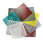 Buy cheap Round Shape Aluminum Powder Coating Perforated Metal Sheet Punching Mesh Customized Size product