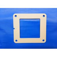 Buy cheap Industrial Ceramic Parts Zirconia Flame 97% Alumina Ceramic 4 Bolt Hydraulic Square Flange product