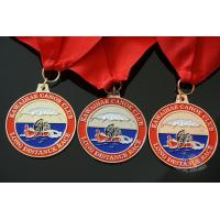 Buy cheap Rowing Gifts Competition Medals And Medallions Sports Day Medals With Red Ribbon product