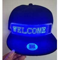 Buy cheap send message by phone bluetooth LED message cap rechargeable Fashion LED rolling message hat support gif dispaly led cap product