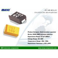 Buy cheap High Reliability CA45 SMD Solid Tantalum Capacitors for Camera, Recorder, SMT from wholesalers