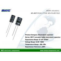 Buy cheap CD71 Non-Polar 6.3V - 160V DC Aluminum Radial Electrolytic Capacitors with Stable Performance product