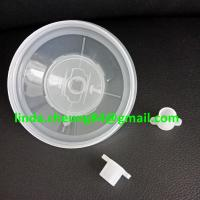Quality transparent PP spray gun paint mixing cup soft PE material 28oz cup lids with for sale