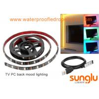 Buy cheap USB 5V 8mm 5050 RGB LED Strip Lights Colour Changing Laptop PC Back Mood Lighting product
