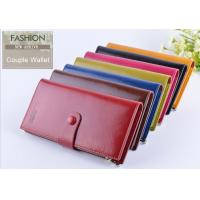 Buy cheap Men Oil Wax Leather Clutch Wallet Three Fold Long Type With Card ID Holder product