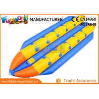 Buy cheap 0.9mm PVC Tarpaulin Inflatable Banana Boat / Inflatable Water Toys product