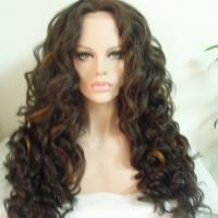 Buy cheap High quality Fashion style Heat resistant fiber Wave Synthetic Lace Front Wigs from wholesalers