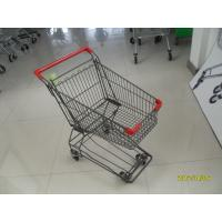 Buy cheap 80L Supermarket Push Shopping Cart Four Wheeled With  Anti UV Plastic Parts product