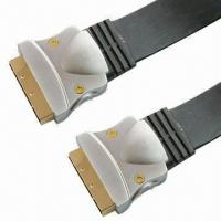 Buy cheap SCART Flat Cables, Customized Colors, Specifications and Lengths are Accepted product