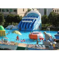 Buy cheap Giant Metal Frame Pool , Above Ground Pool Water Slide For Amusement Park product
