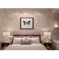Buy cheap Moisture - Proof Light Pink Rustic Floral Wallpaper , Home Furnishing Wallpaper product
