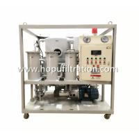 Buy cheap Frame Double Stage Vacuum Transformer Oil filtration plant, Dielectric Mineral Insulation Oil Dehydration factory product