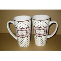 Buy cheap Export 8208 beer ceramic mug with handle Certificate of SGS/CE/ROHS  test custom LOGO coffee mark cup product