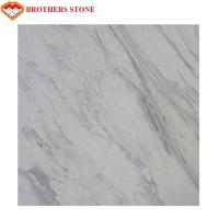 Buy cheap Volakas White Marble Stone Big Slab 18mm Thickness , Free Sample product
