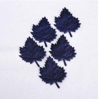 China Dark Blue Christmas Party Crafts Diy Ultrasonic Embossing Maple Leaf Ornament on sale
