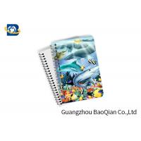 Buy cheap Eco Friendly Paper 3D Lenticular Notebook Ocean / Animal Pattern With Spiral product