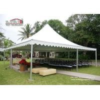 Buy cheap Pop Up Aluminum Pagoda Outside Gazebo Tent With White Color Roof / Sidewall from Wholesalers