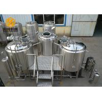 Buy cheap 3 Vessels Micro Brewing Systems Abrasion Resistant 500L / 1000L Tanks product