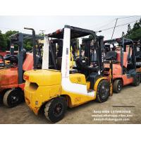 tcm used diesel forklift manual 3 ton isuzu engine with 3000mm mast for sale