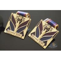 Buy cheap Royal 10K And 15K Custom Design Logo Sports Metal Medal, Soft Enamel Colors With Sublimated Ribbon product