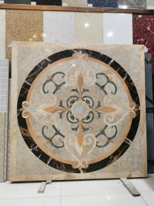 Buy cheap Deluxe Interior Lobby Water Jet Medallion Flower Marble Petterns Decorative Wall product