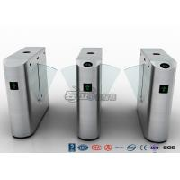 Buy cheap Pedestrian Control Electronic Flap Barrier Gate Acrylic Counter Turnstiles DC24V product