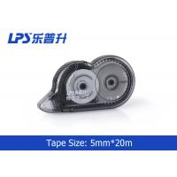 China Plastic Material Office Stationery Decorative Correction Tape 20M Length Black on sale
