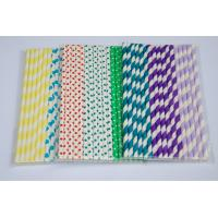 Factory price striped paper straws