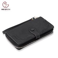 Buy cheap Hot Fashion PU Leather female clutch card holder wallets women long style purse laser bifold back-pull long wallet product