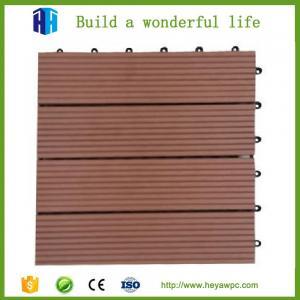 Buy cheap HEYA wpc decking tile 30x30 interlocking outdoor composite plastic wood tile flooring product