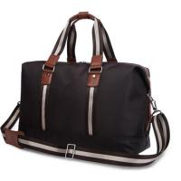 Personalized Luxury Travel Duffel Bags for Men with Leather Handles