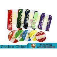 Buy cheap Casino Style Numbered Poker Chip SetBright Color With Customized Print Logo product