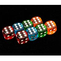 Buy cheap Colorful Plastic 8 / 10 / 12 / 14mm Casino Magic Dice For Betting Games Cheat product