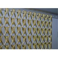 China Aluminum Chain Link Mesh Drapery , Chain Link Fly Screen For Space Partitions on sale