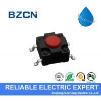 Buy cheap RED Surface Mount Push Button Switch , Surface Mount Tactile Switch PA66 Material product