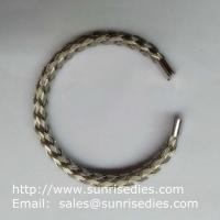 Buy cheap 304 stainless steel wire braided bangle, stock stainless steel wire bracelet wholesale product